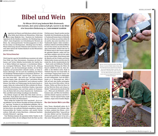 Weingut Karl Jung & Sohn / Bibel und Wein - Pro